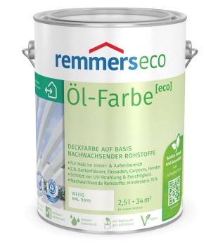 Remmers Öl-Farbe [eco] 5 Liter weiß RAL 9016