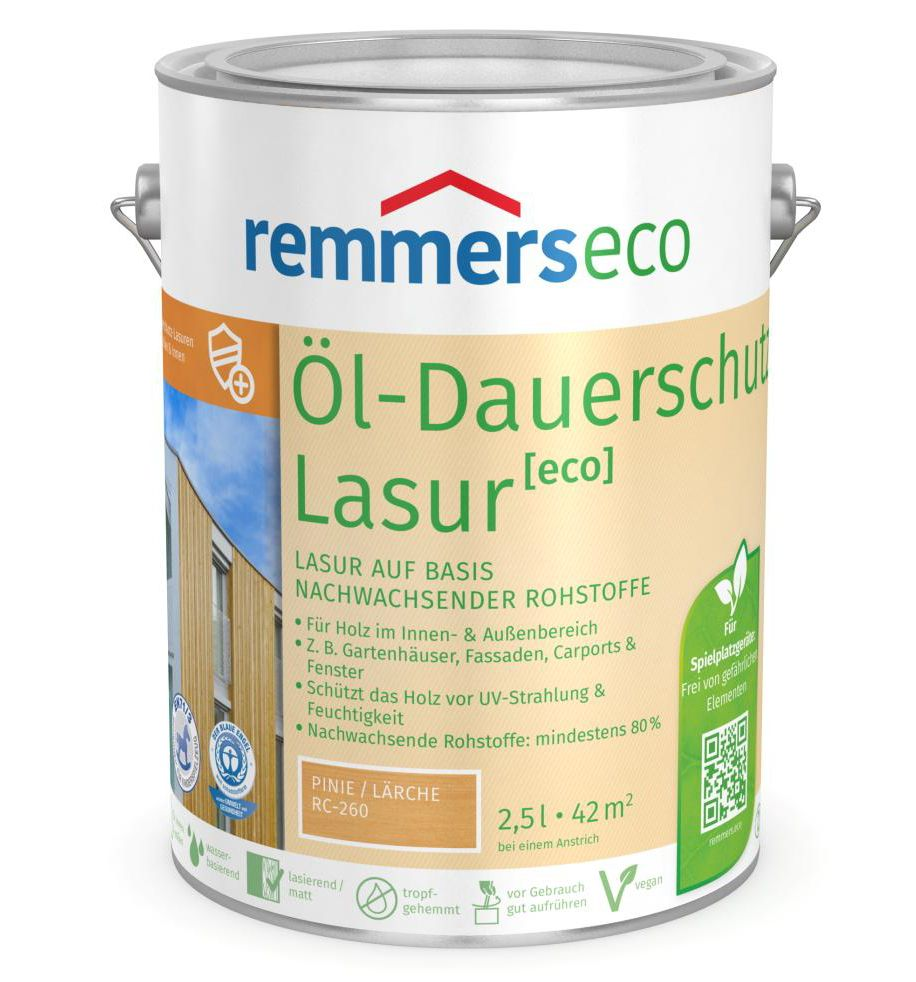 farben kochem online shop remmers l dauerschutz lasur eco 2 5 liter. Black Bedroom Furniture Sets. Home Design Ideas